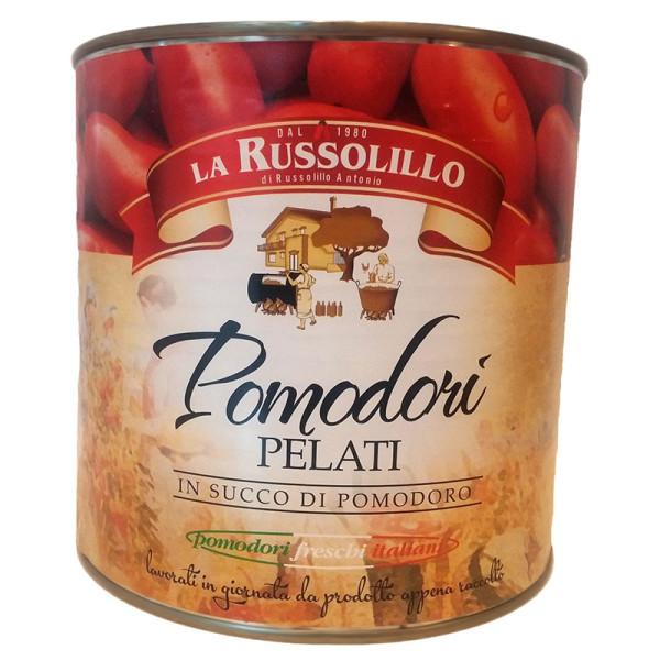 pomodoro pelato salsato in latta smaltata 3kg